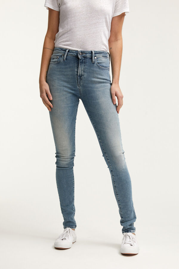 NEEDLE Light, Fresh Blue Denim - High-Rise, Skinny Fit