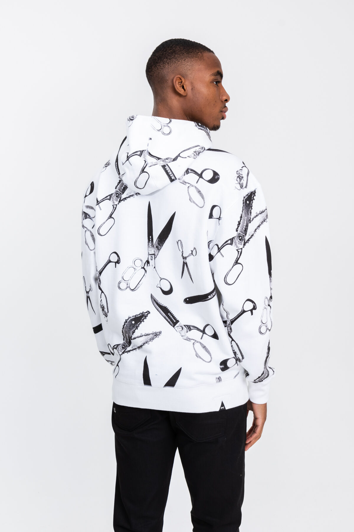 ACCORD SWEAT Scissor All-Over Print Cotton - Oversized Fit