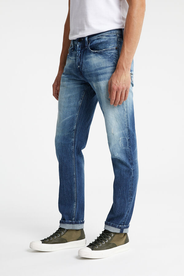 RAZOR Indigo Rip & Repair Denim - Slim Fit
