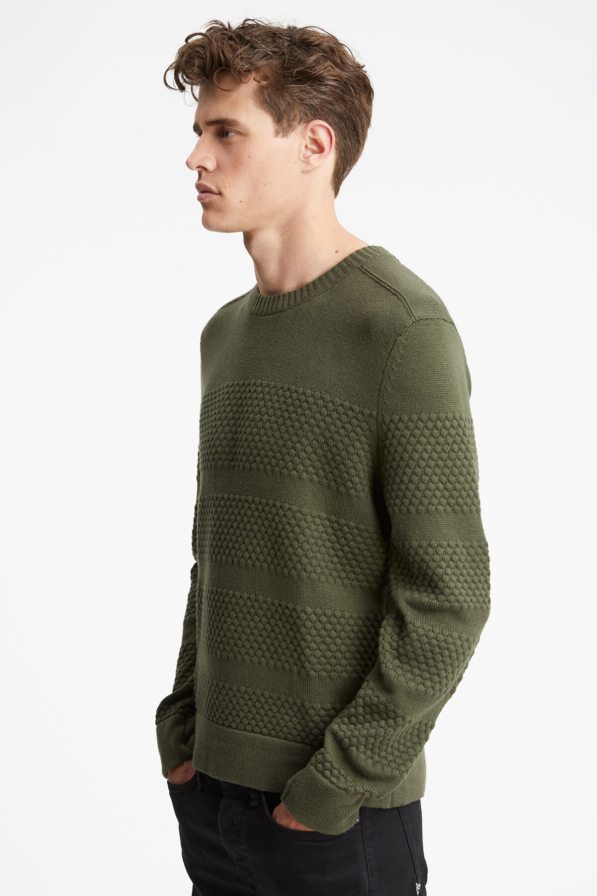 CLARENDON CREW Cotton & Cashmere Blend - Regular Fit