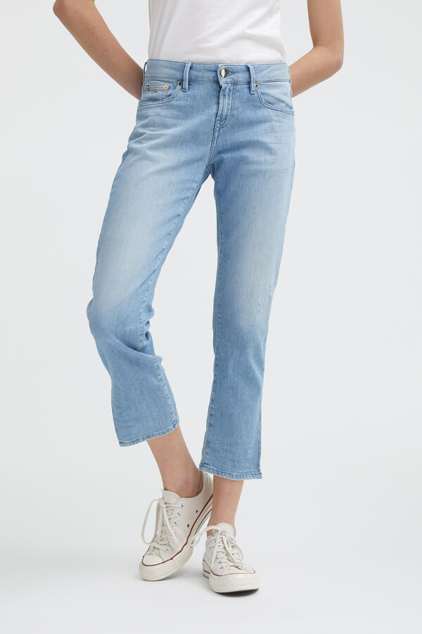LIZ ANKLE Soft Fade Denim - Straight Fit
