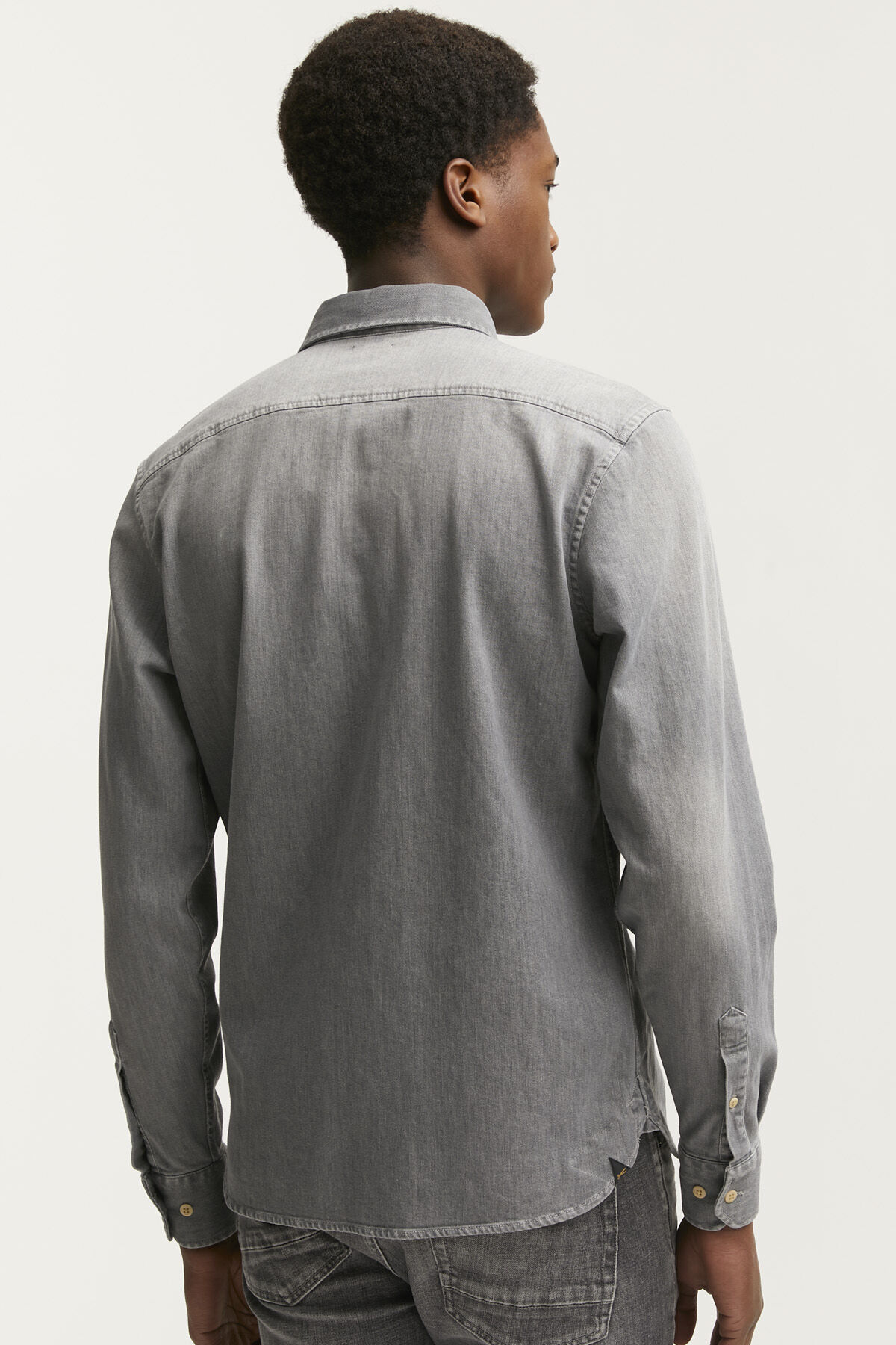 AXEL SHIRT Three-year Grey Denim - Slim Fit