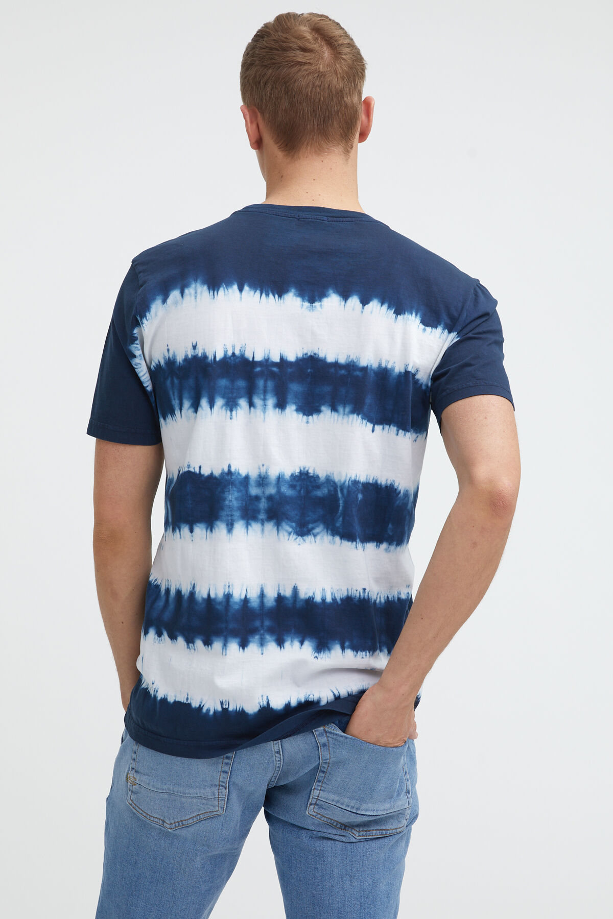 TIE DYE STRIPE TEE Cotton Jersey - Regular Fit