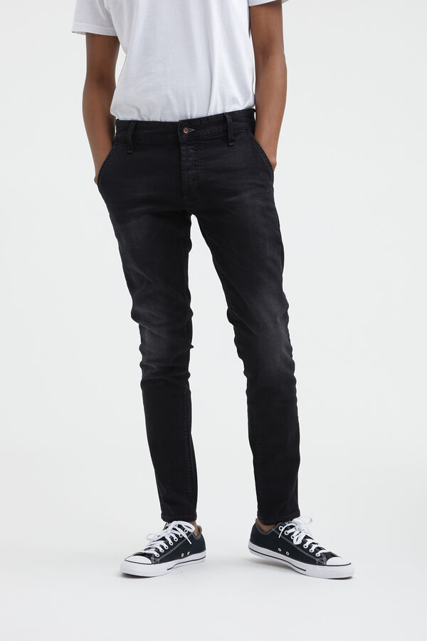 YORK PARIS Subtle, Black Faded Denim - Slim, Tapered Fit