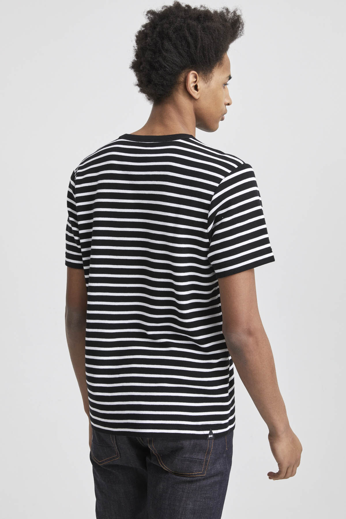 AMERICANA TEE Waffle-Structure Jersey  - Regular Fit