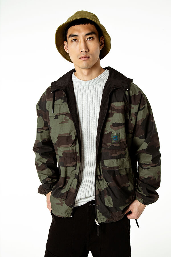 QUATTRO ANORAK Reversible print - Regular Fit