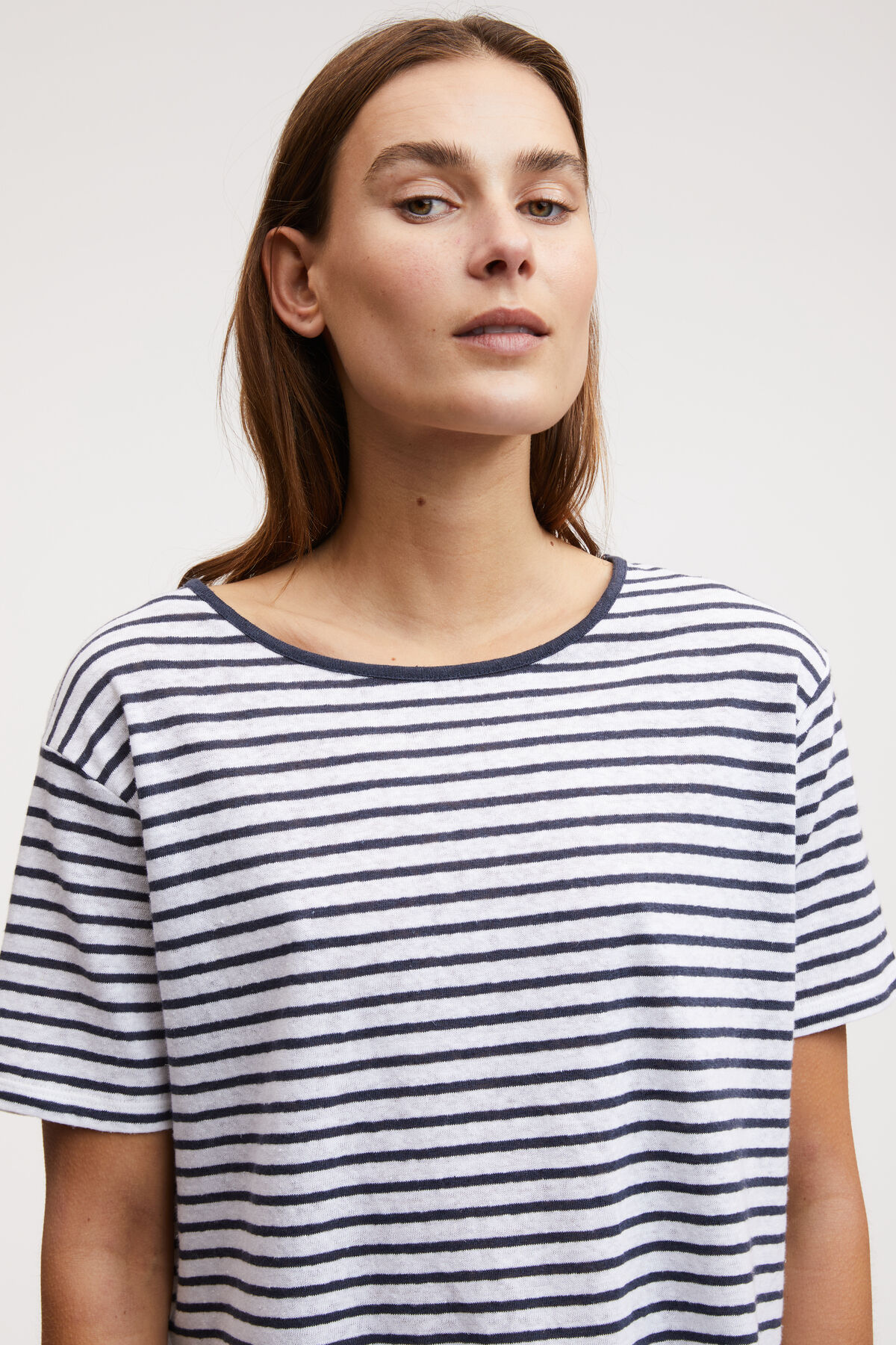 MARINE TEE Cotton & Linen Blend - Regular Fit