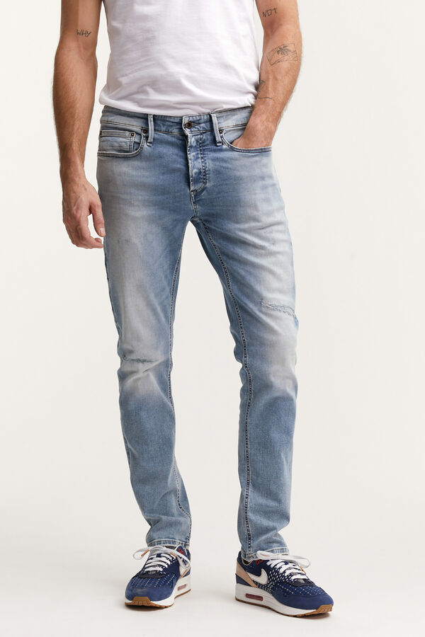 RAZOR Four-Year Rip & Repair, Indigo Denim - Slim Fit