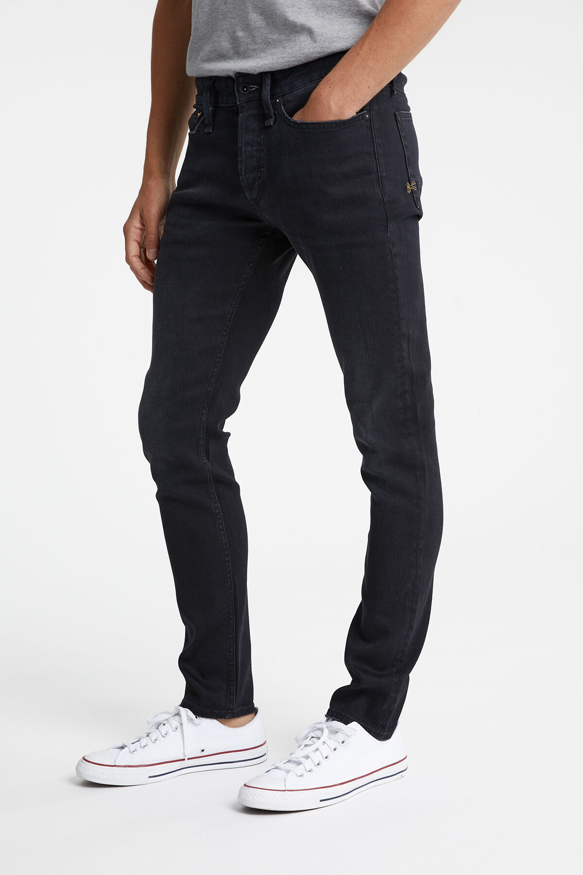 BOLT Black sustainable denim - Skinny Fit