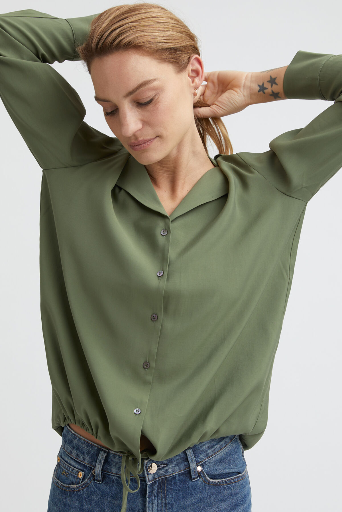 HENTY SHIRT Structured Viscose - Relaxed Fit
