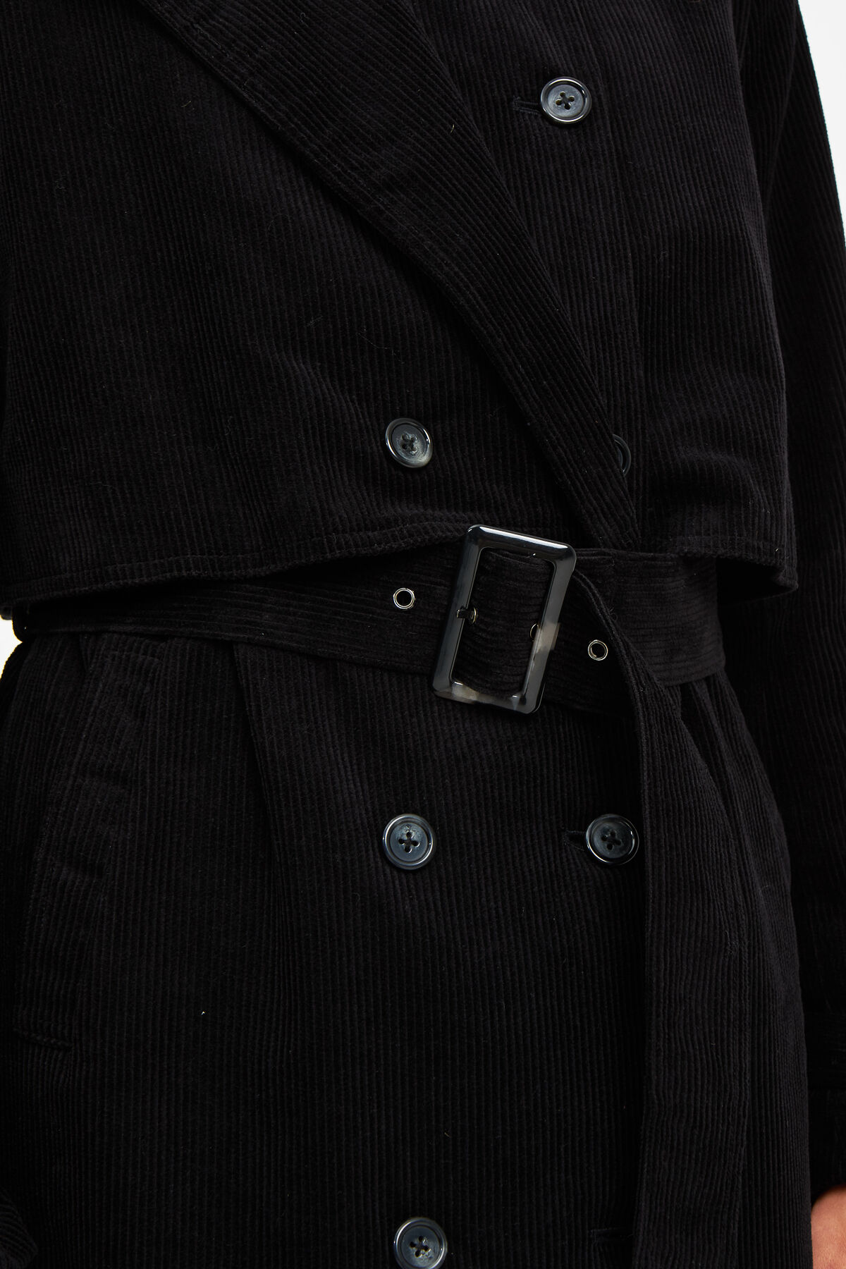 HARUNA TRENCH Mid-weight Cord - Fitted