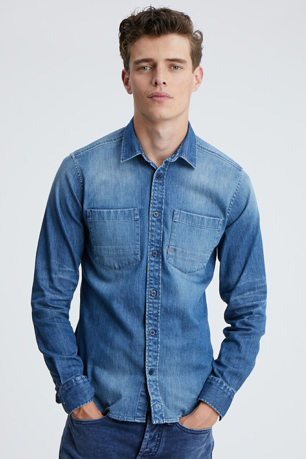 AXEL SHIRT Three-year Indigo Denim - Slim Fit