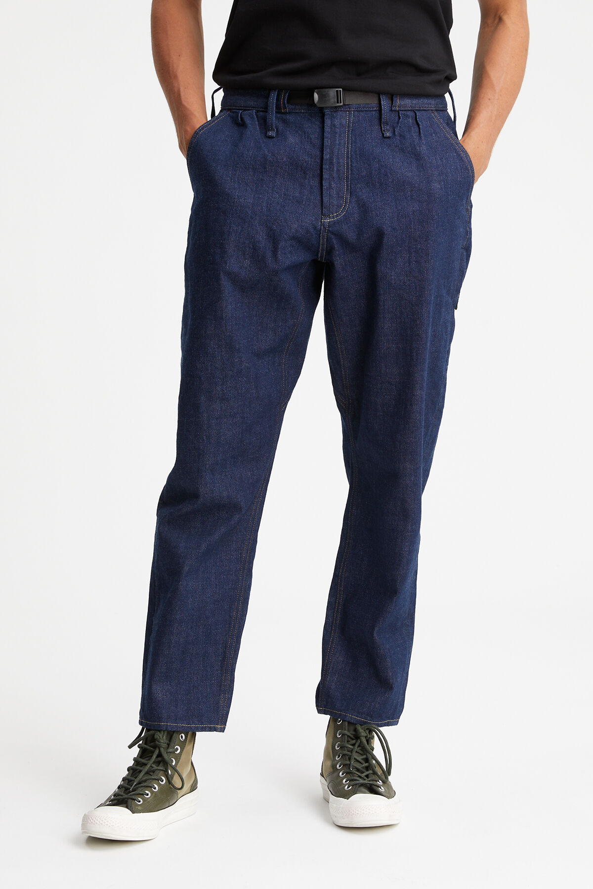 TRIAL PANT Low impact dark wash - Tapered Fit