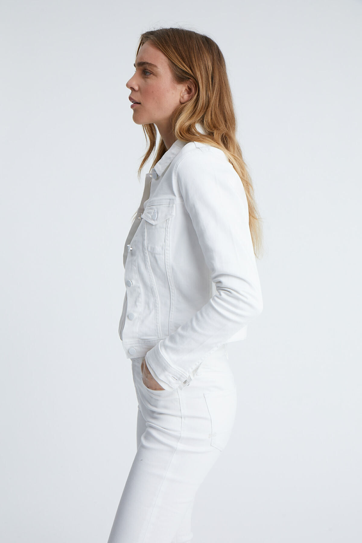 BROOKLYN JACKET White Denim - Slim Fit