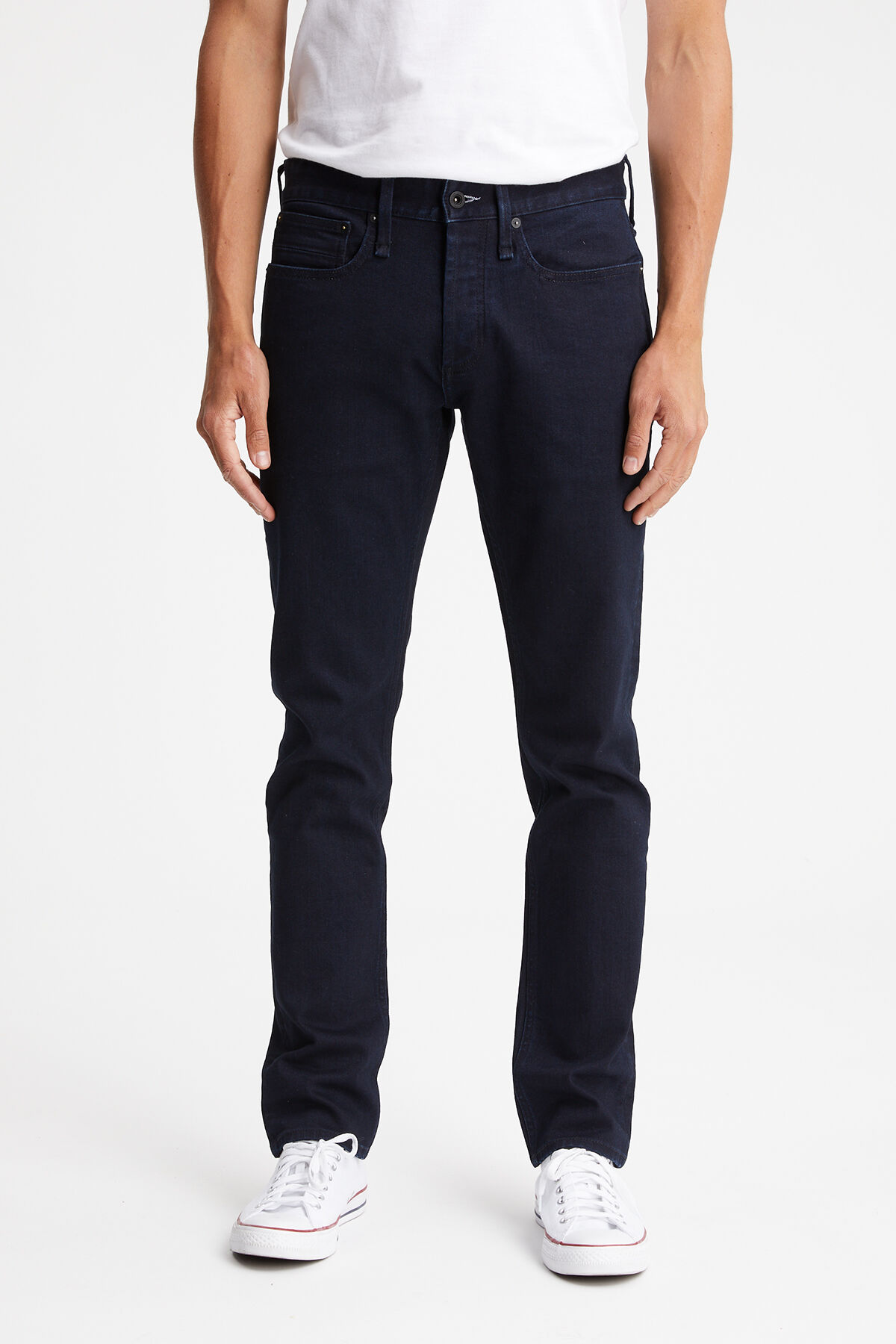RAZOR Blue-Black Comfort Stretch Denim - Slim Fit