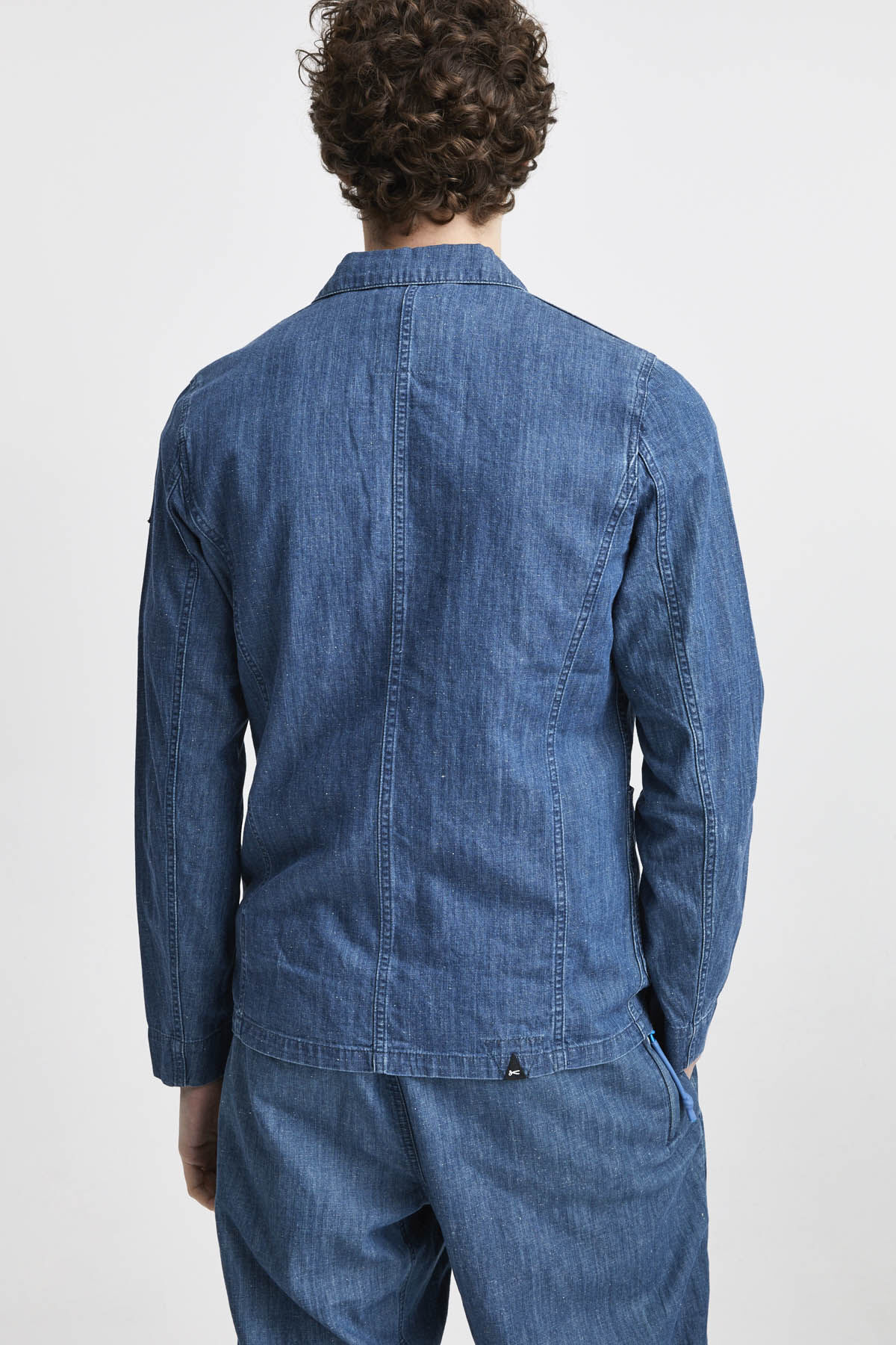 MAO JACKET Organic Cotton & Hemp Denim - Slim Fit