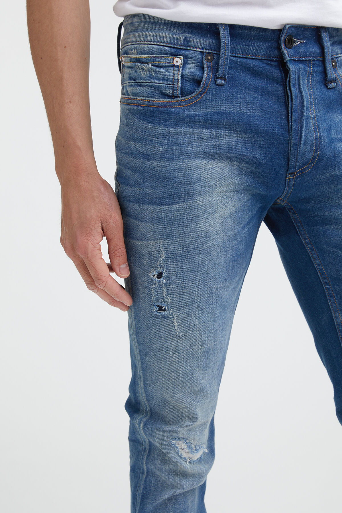 BOLT Hand Repaired Denim - Skinny Fit