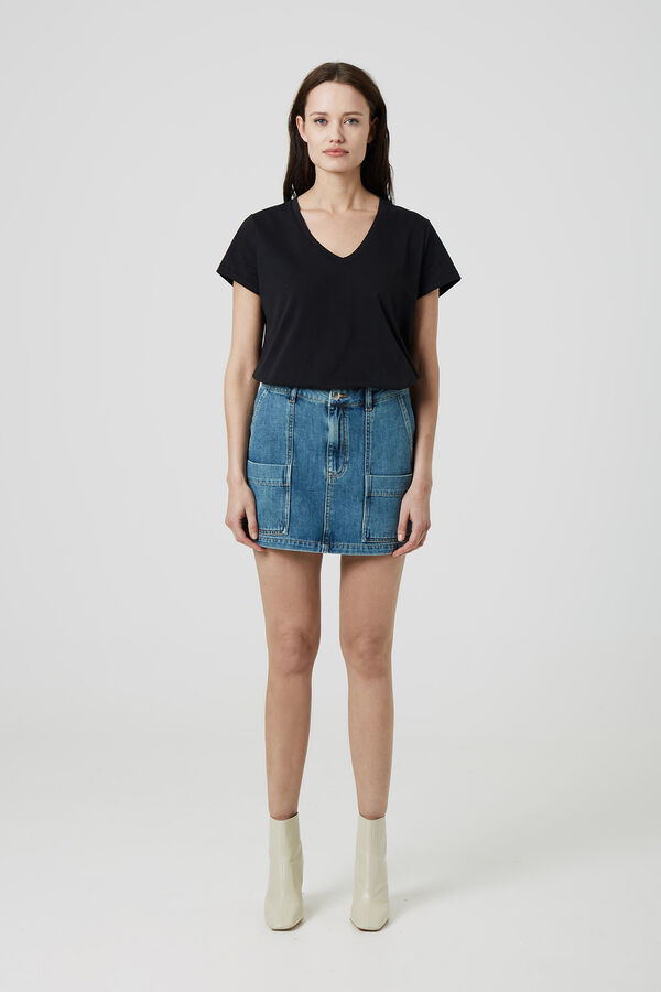 FAY SKIRT Washed Indigo - Mini