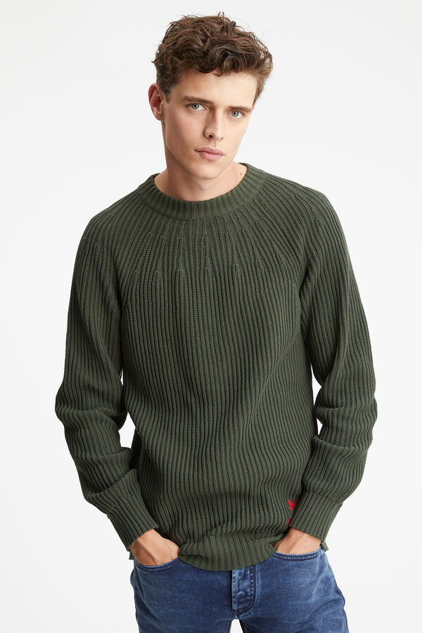 CRESTON CREW Chunky Cotton Knit - Regular Fit