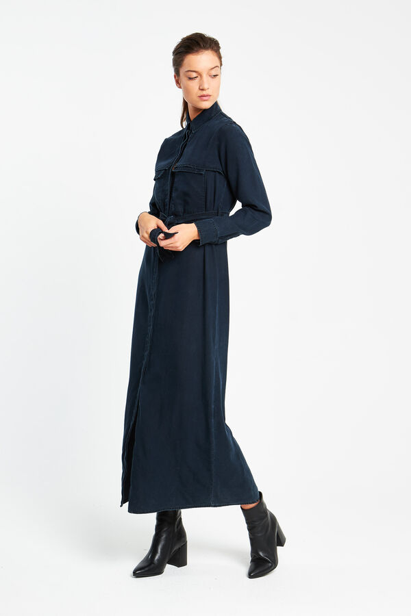 HYOKO DRESS Indigo Tencel - Maxi