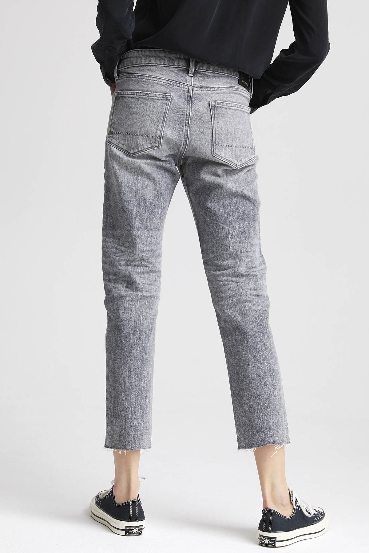 LIZ ANKLE Ripped & Repaired Denim - Straight Fit