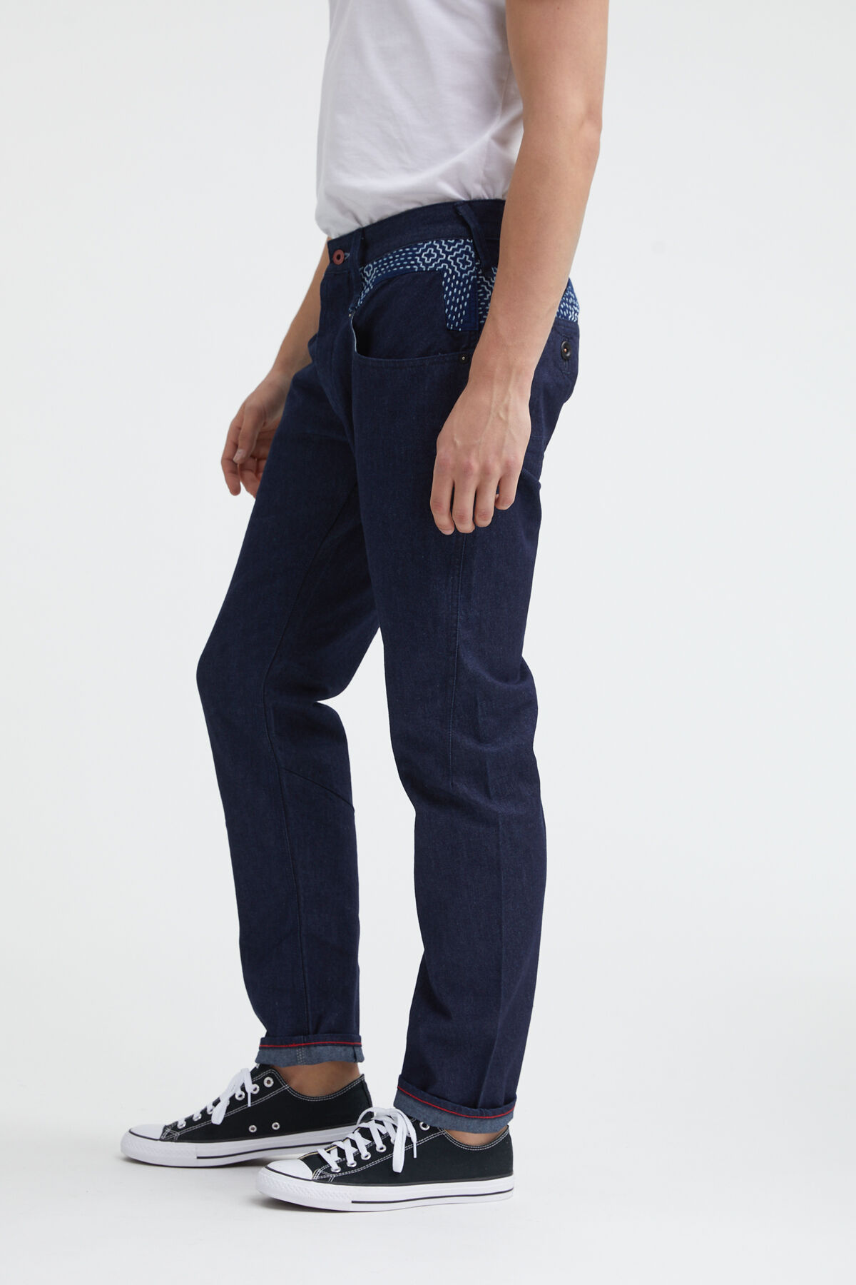 CROSSBACK 1MIX Boro Recycled Denim - Carrot Fit