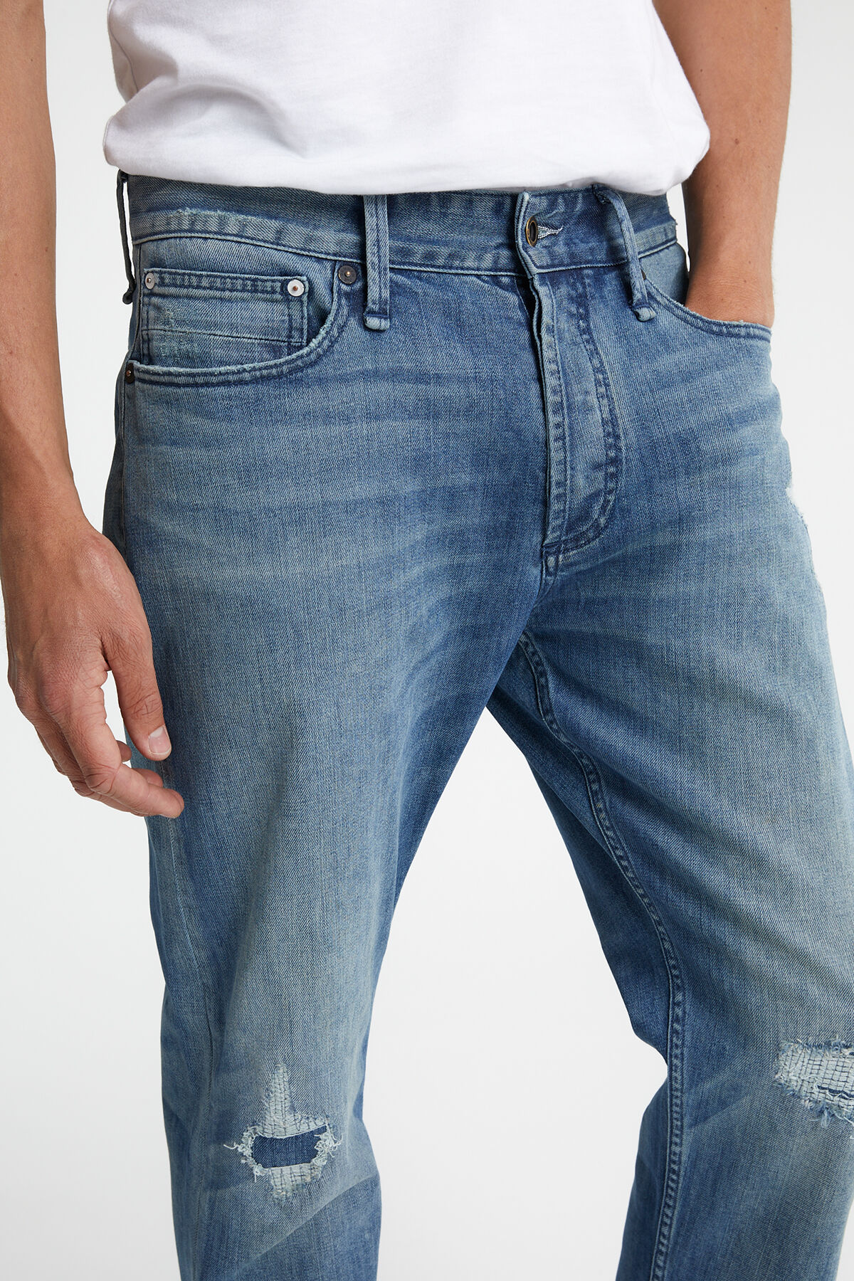 CROP Recycled Denim - DROPPED-CROTCH, STRAIGHT FIT