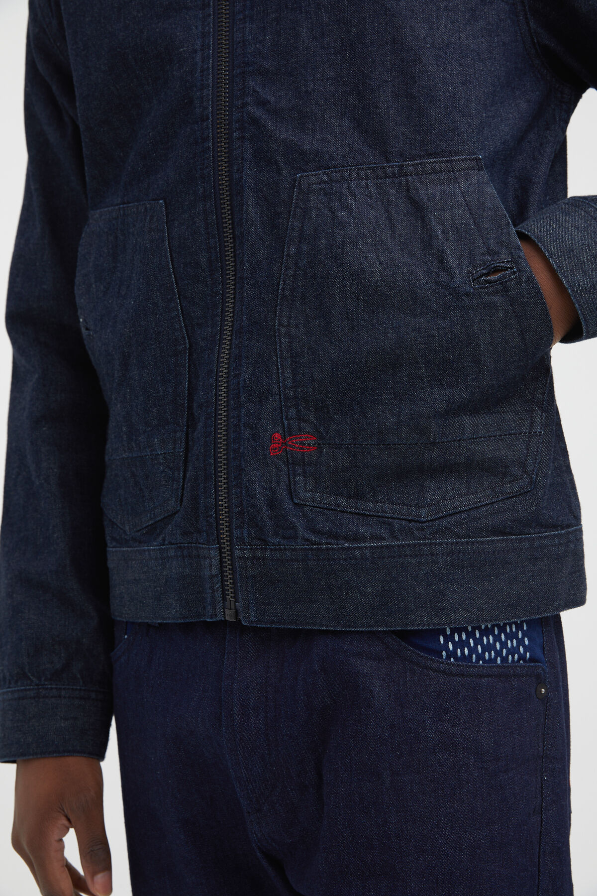 PACE JACKET 1MIX Boro Recycled Denim - Regular Fit