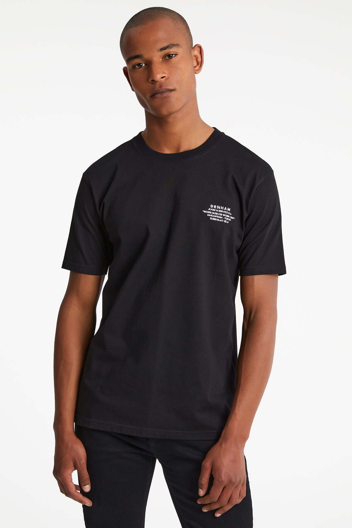 TRINITY TEE Embroidered Chest Slogan - Regular Fit