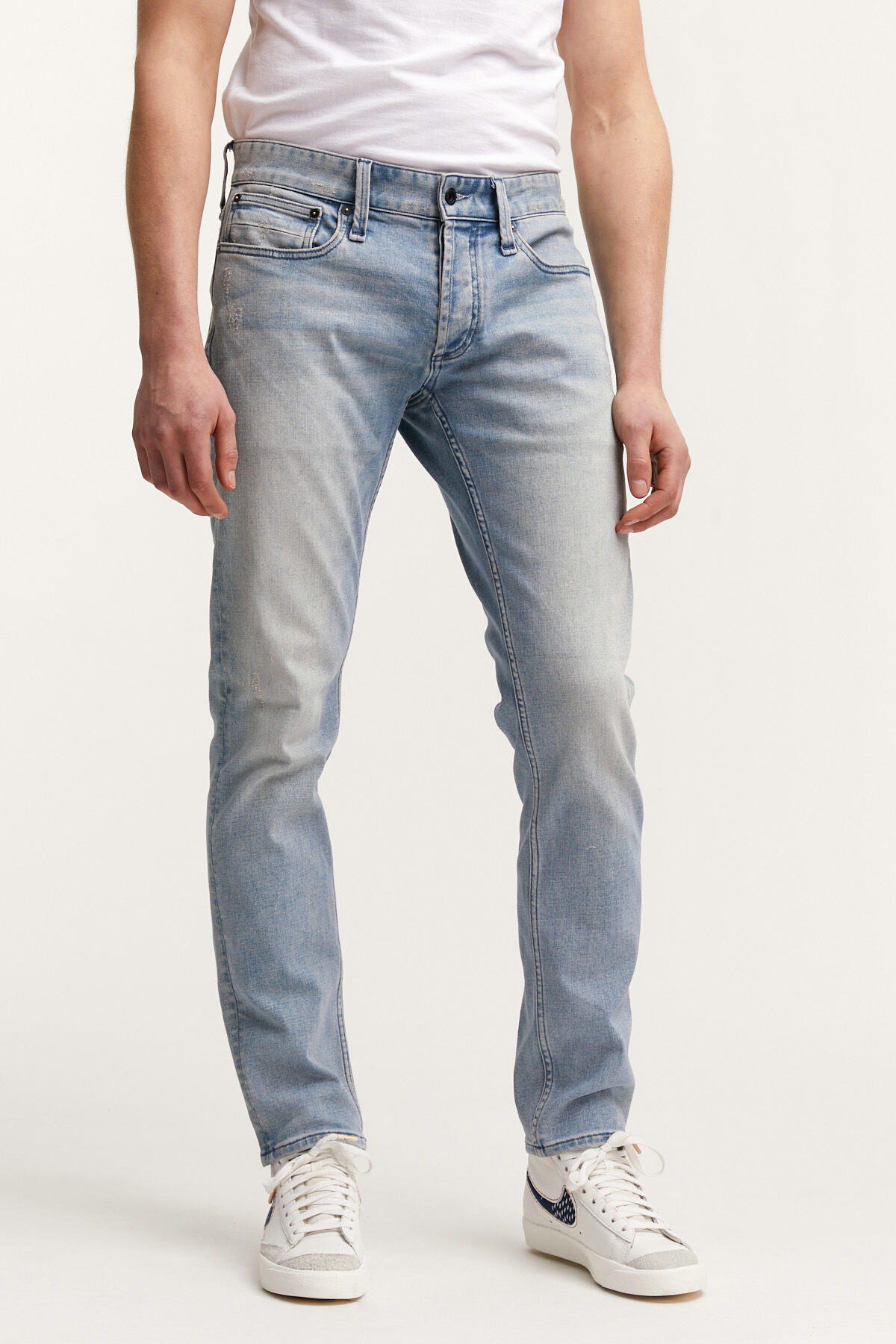 RAZOR CLASSIC INDIGO RIP & REPAIR DENIM - Slim Fit