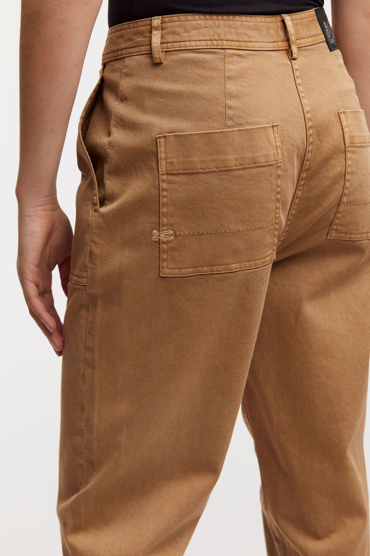 JODIE PANT Cotton & Tencel Fabric Blend - High-Rise, Straight Fit