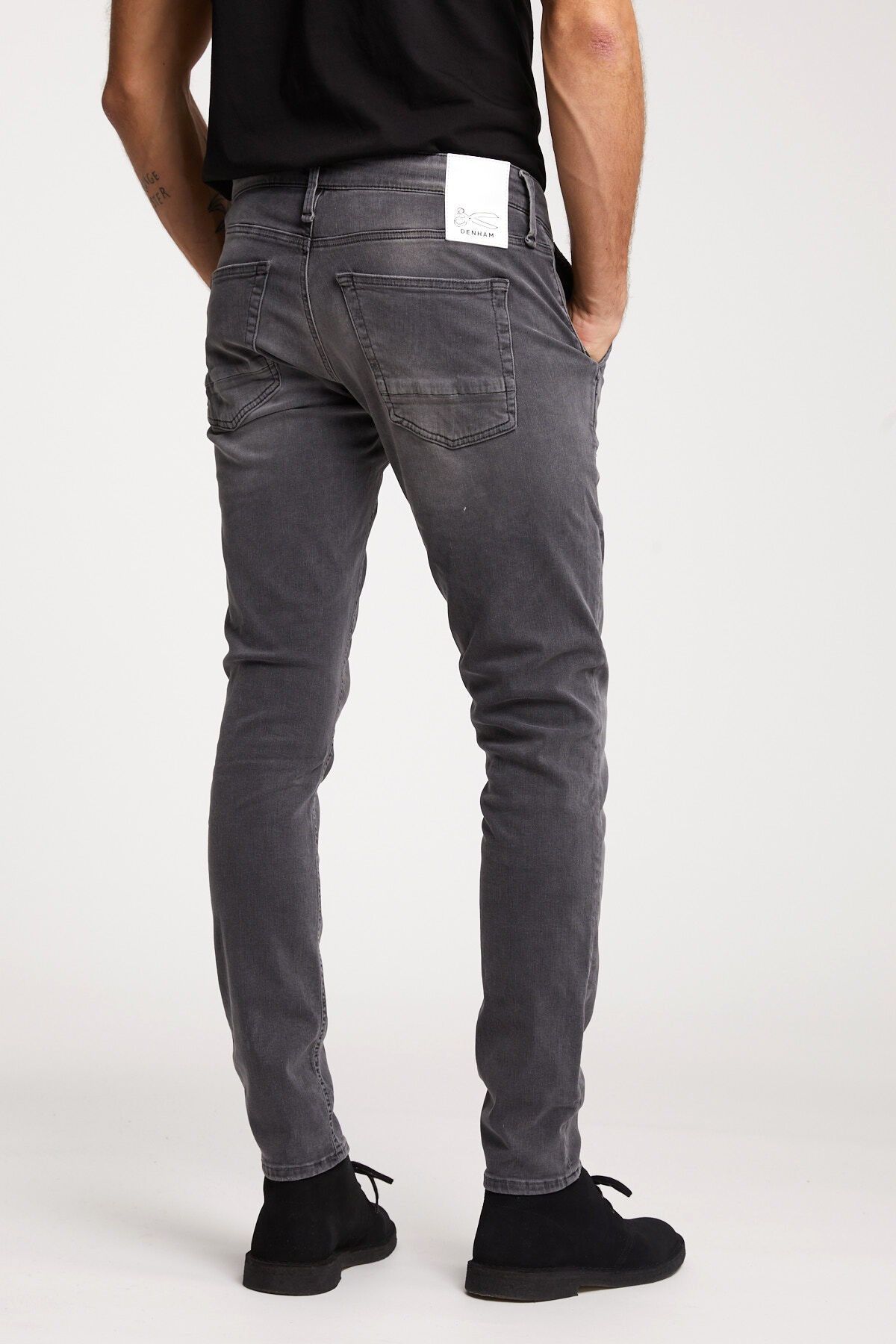 YORK Mid-Grey, Faded Denim - Slim, Tapered Fit