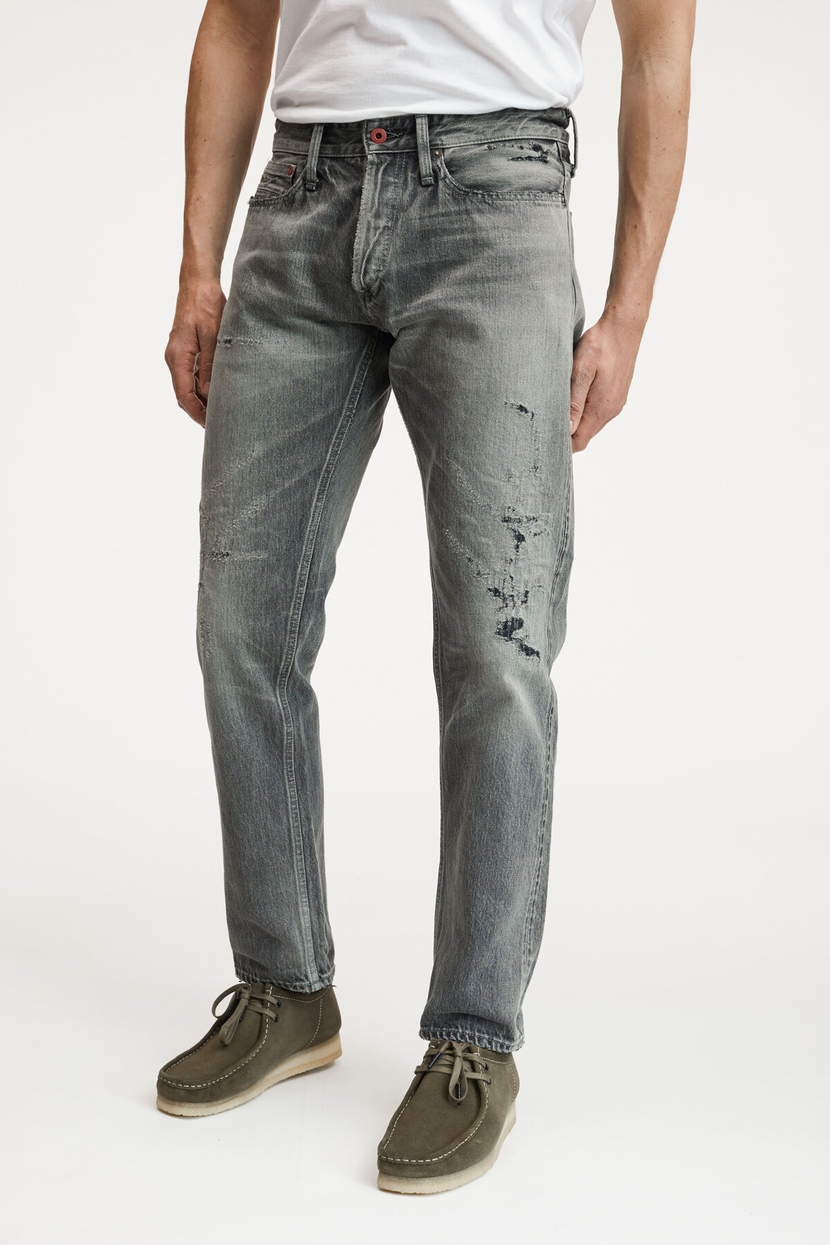 FORGE JAPANESE DOUBLE-BLACK SELVEDGE GREY WASHED DENIM - Loose, Tapered Fit