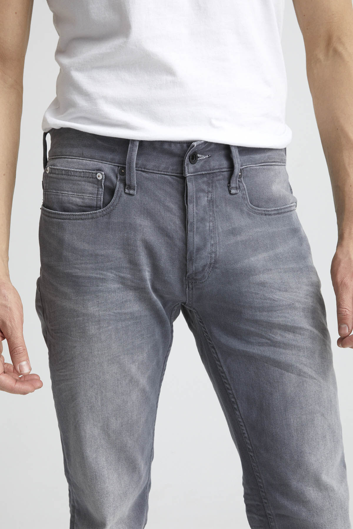 RAZOR Midweight Grey Denim - Slim Fit