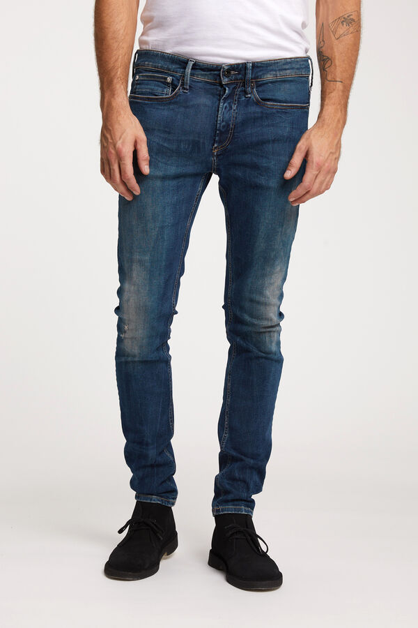 BOLT Indigo Rip & Repair Denim - Skinny Fit