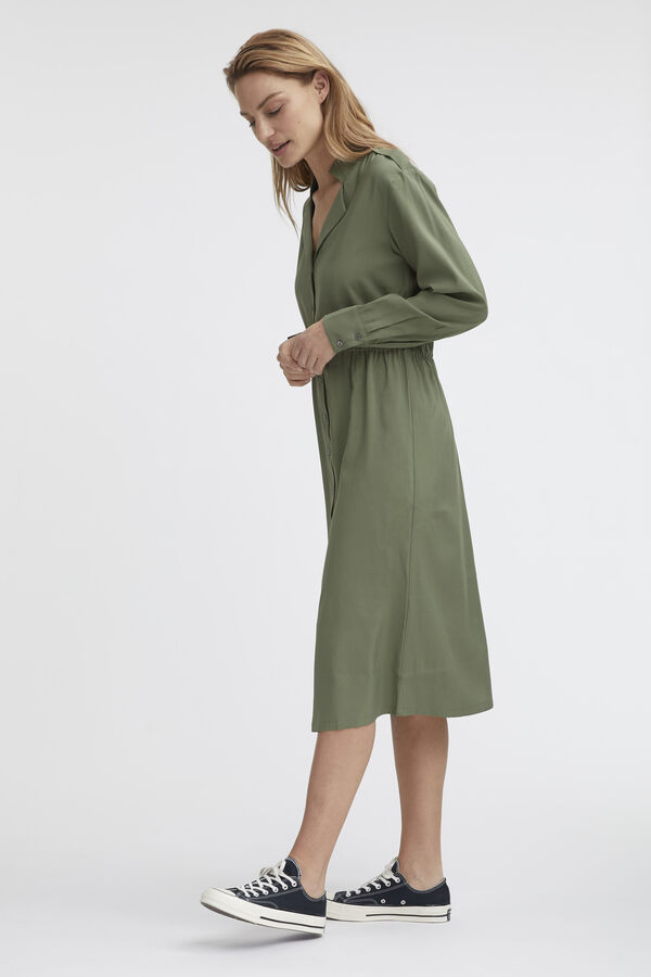 HENTY DRESS Structured Viscose - Relaxed Fit