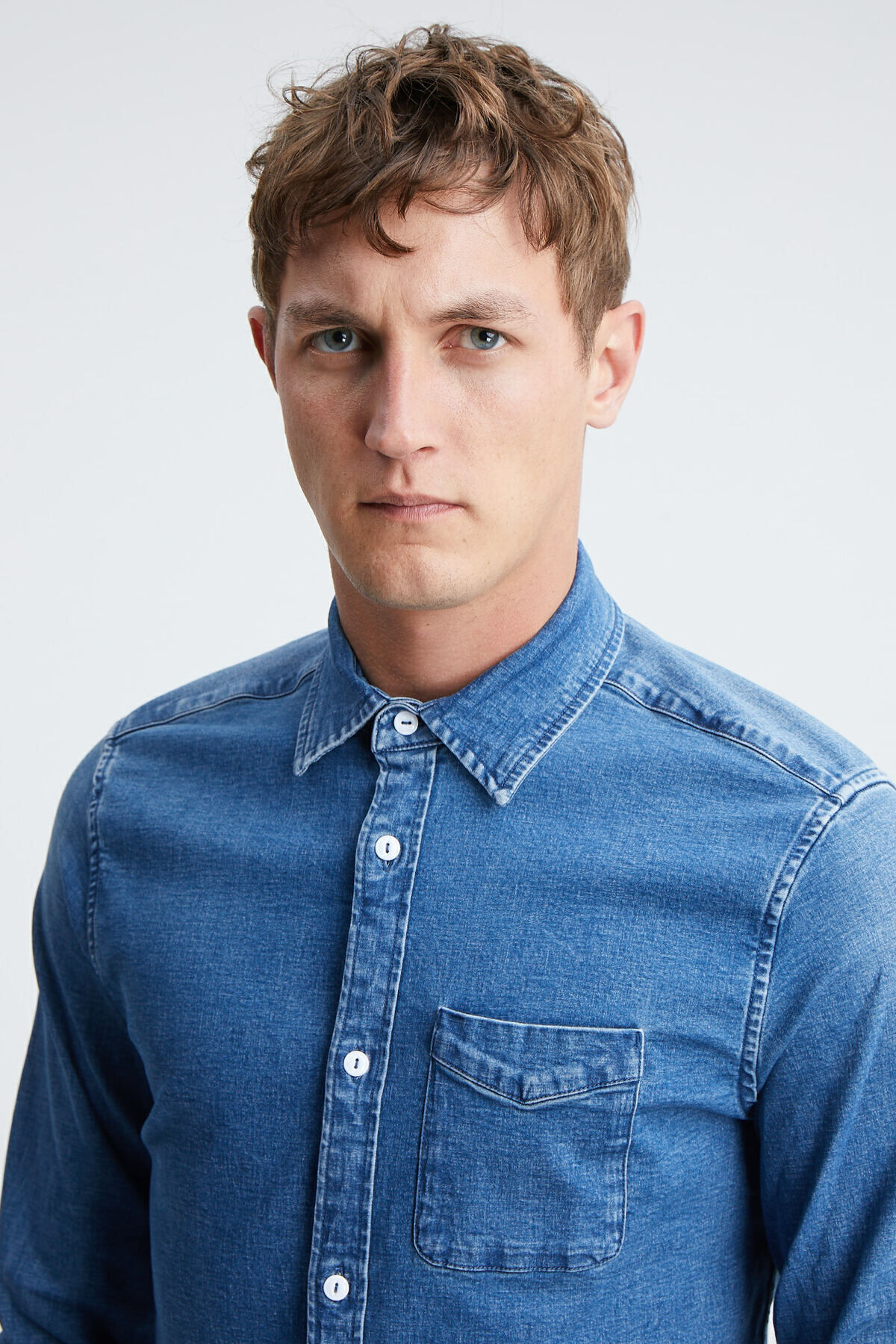 CHARLY SHIRT Authentic Indigo Denim - Slim Fit