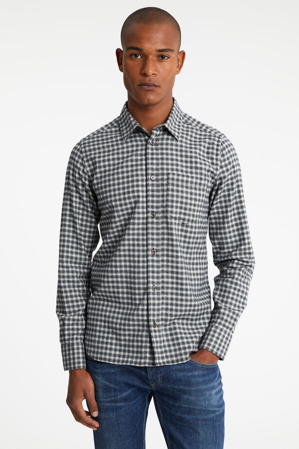 HARRISON SHIRT Checkered Print - Regular Fit