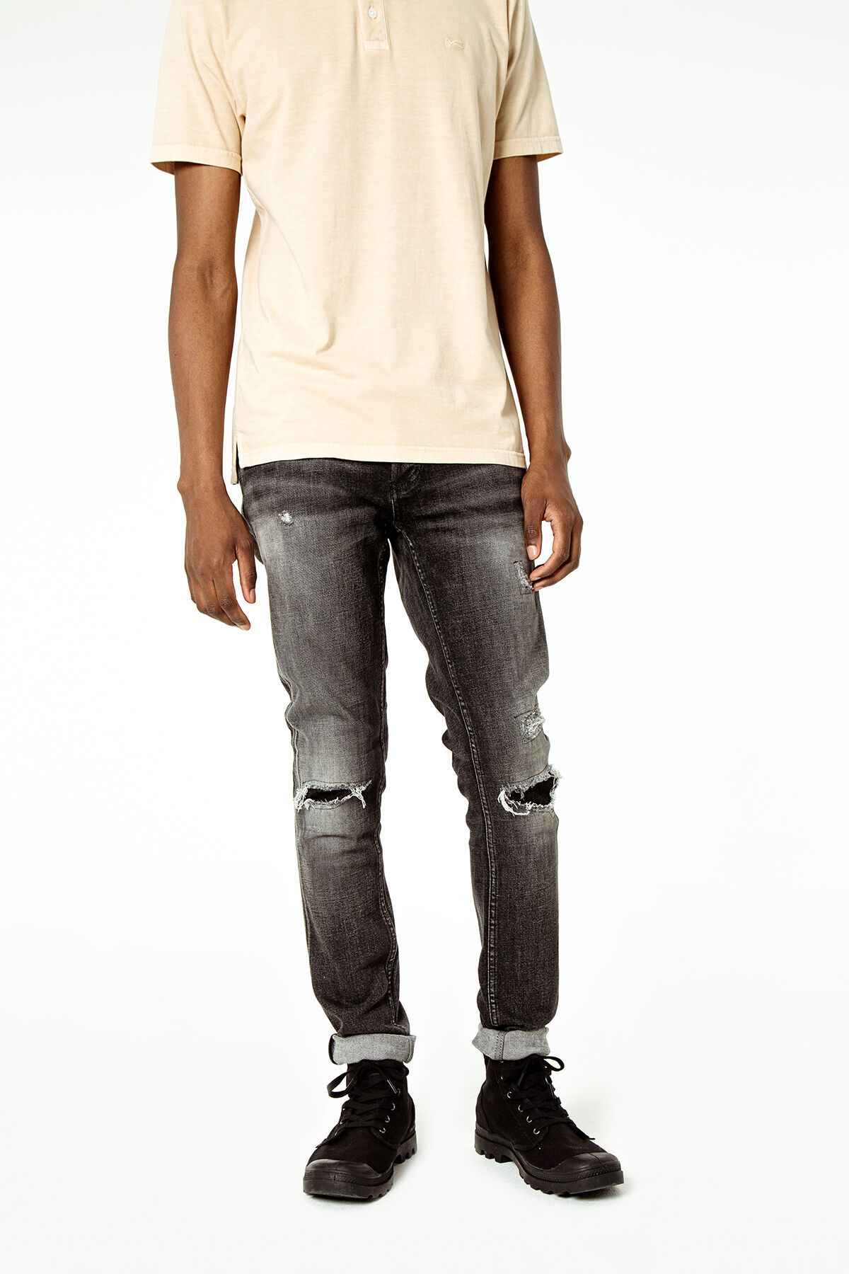 BOLT Left-hand, black weft denim - Skinny Fit