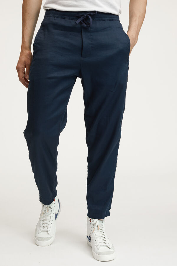 CARLTON PANT Stretch Cotton & Linen Blend - Wide Fit