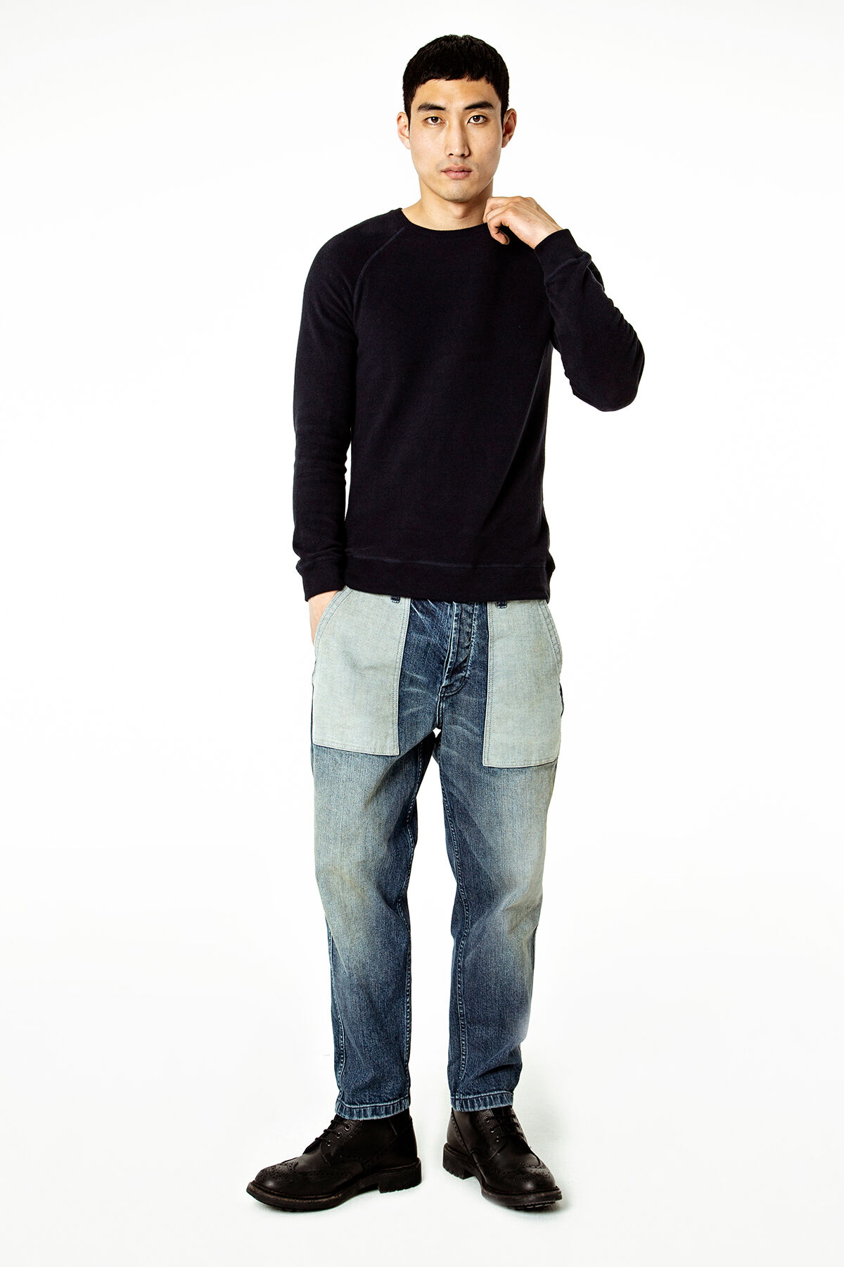 EDEN PANT Reverse fabric details - Slim tapered Fit