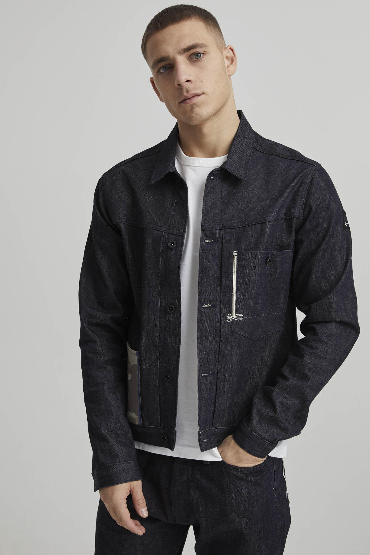 HOMAGE JACKET Raw Selvedge Denim - Boxy Fit