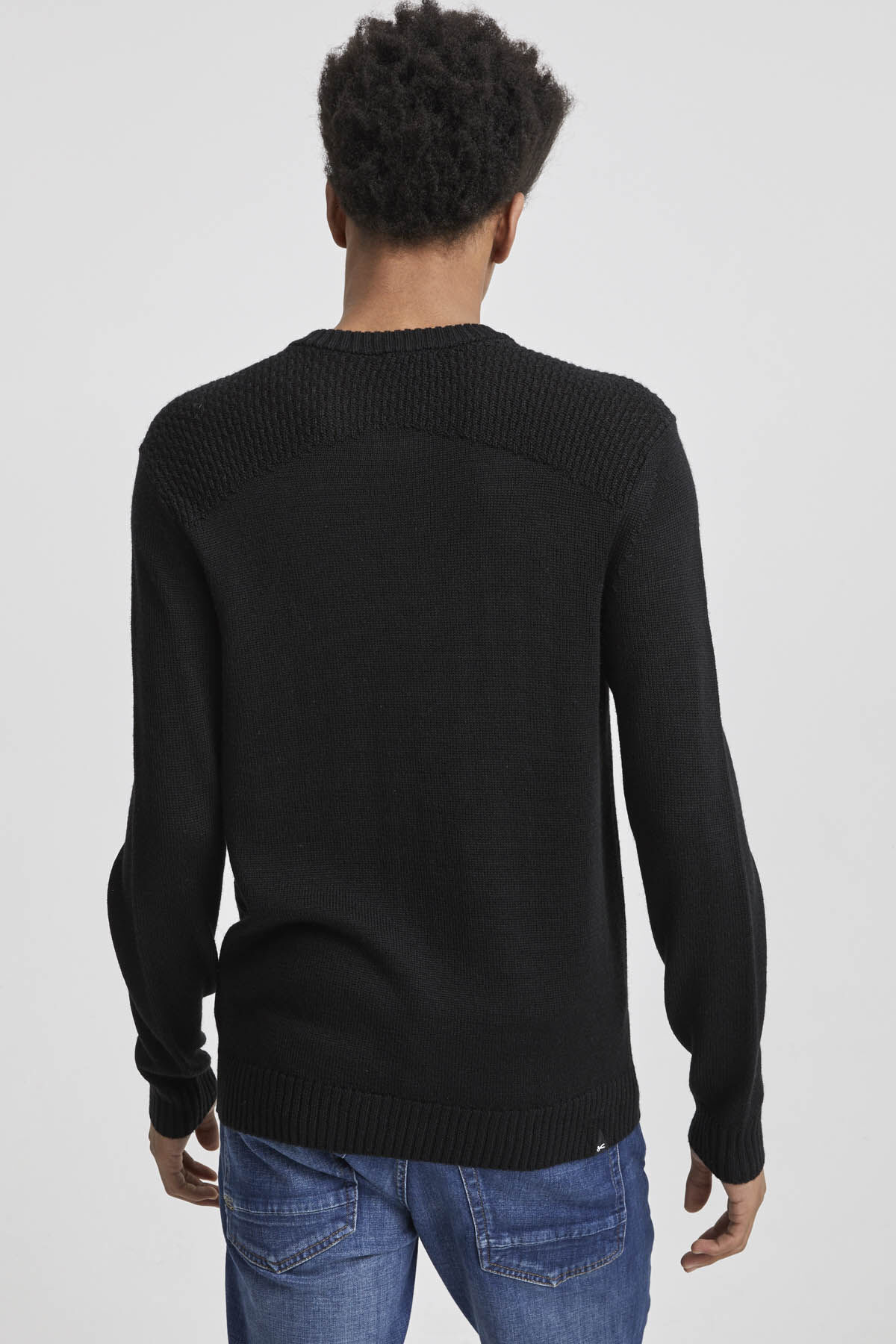 AK KNIT HALF ZIP Wool Blend - Regular Fit
