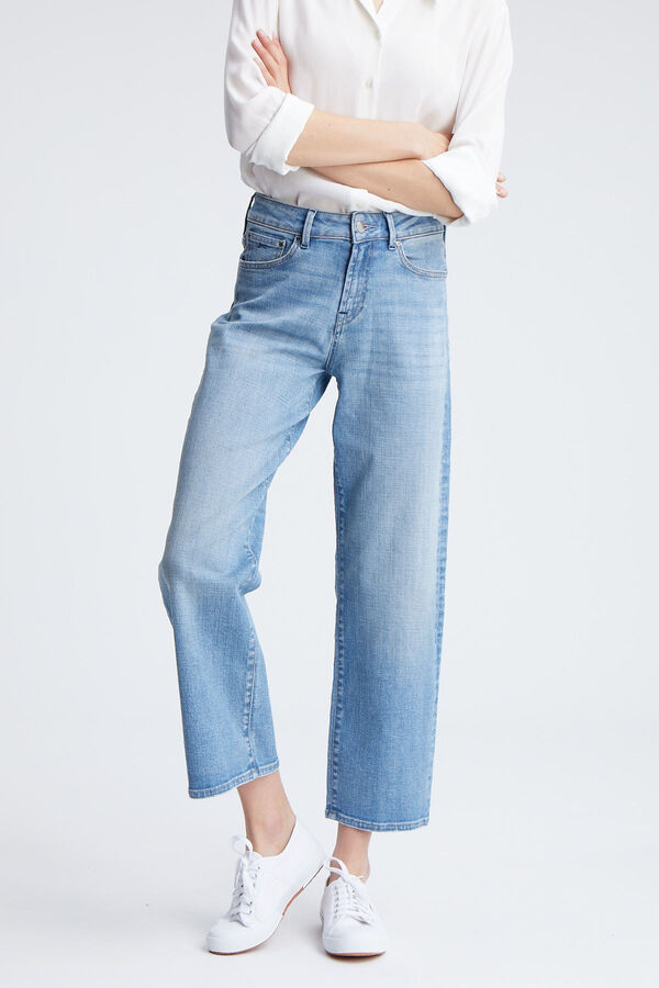 BARDOT WIDE Authentic Clean Blue Denim - High-Rise, Loose FIt