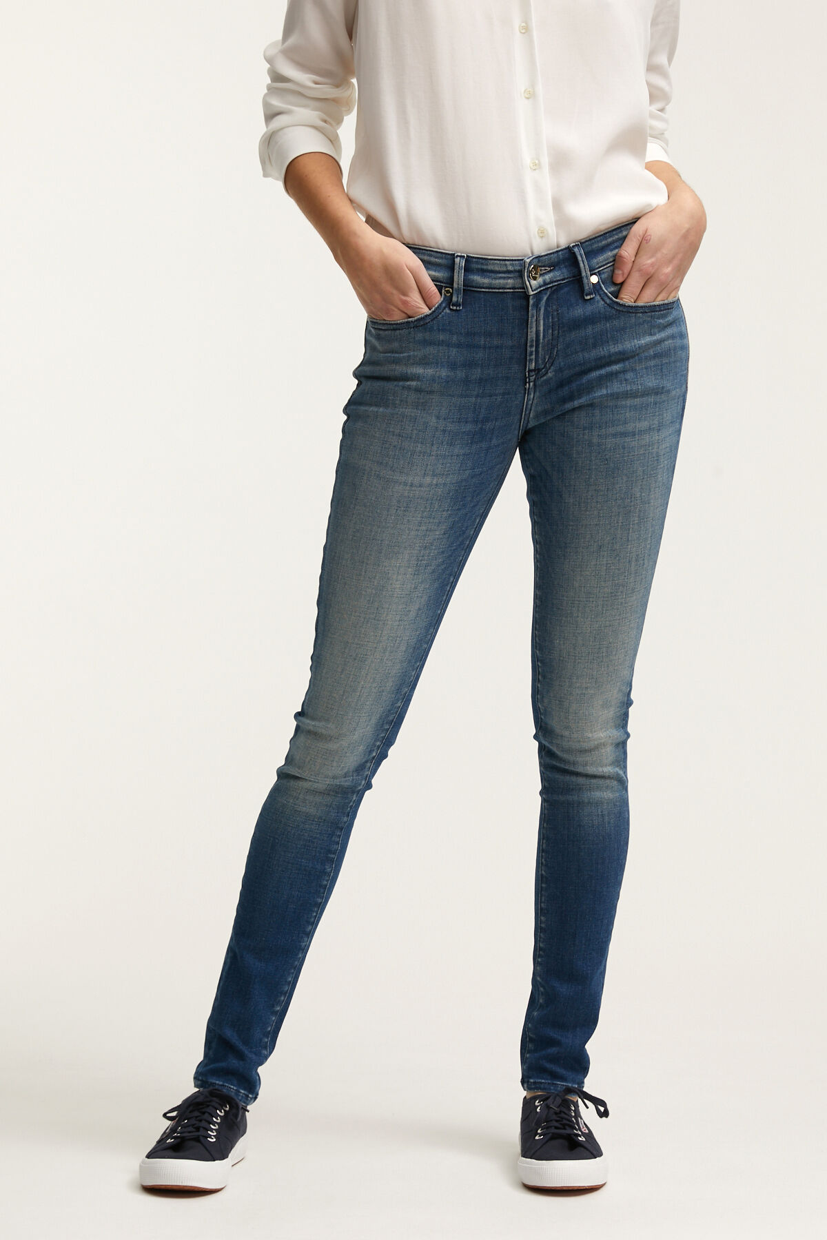 SHARP Indigo Organic Denim - Mid-rise, Skinny Fit