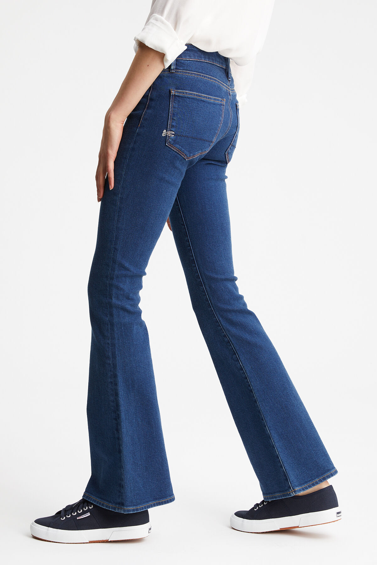 FARRAH Dark 70s wash - Flare Fit