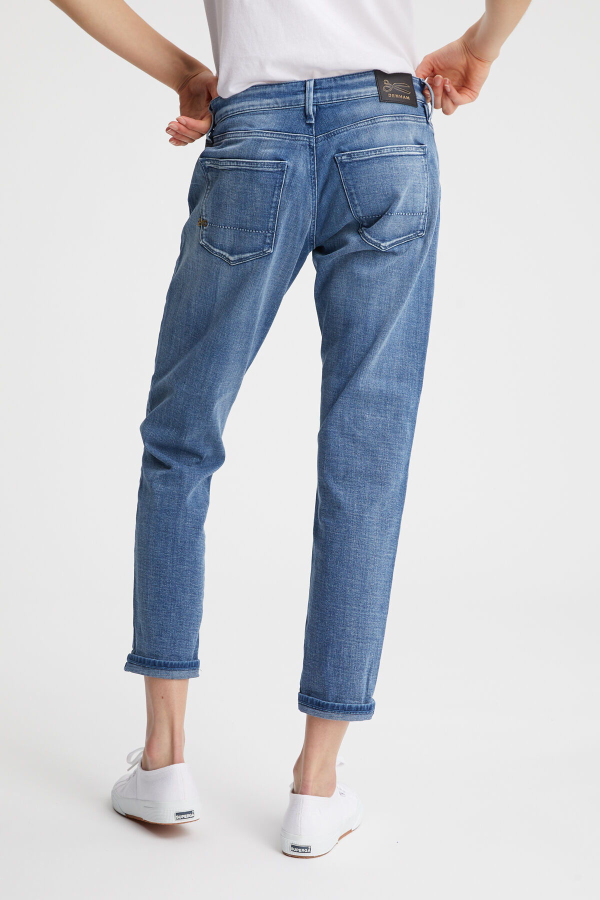 MONROE Subtle Fade Denim - Girlfriend Fit