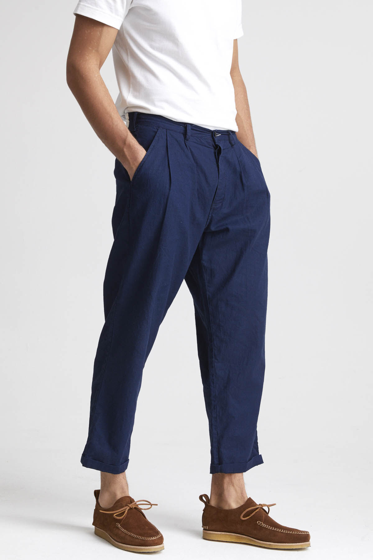 HARRY PANT Cotton & Linen Denim - Relaxed Fit