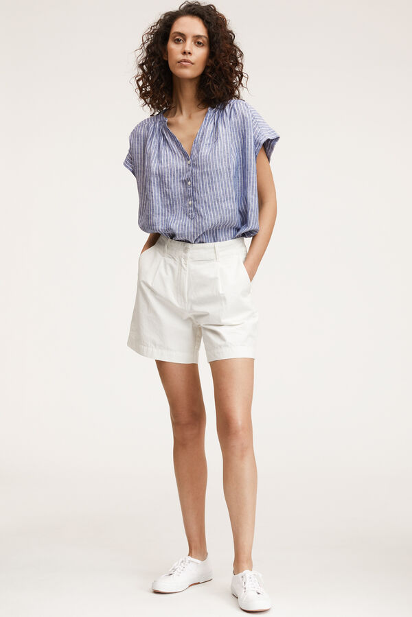 IRENE SHORTS Crisp White Cotton - Regular Fit
