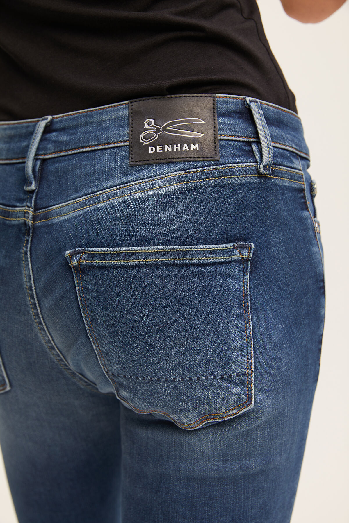 SPRAY Low Impact Washed Denim - Mid-Rise, Tight Fit